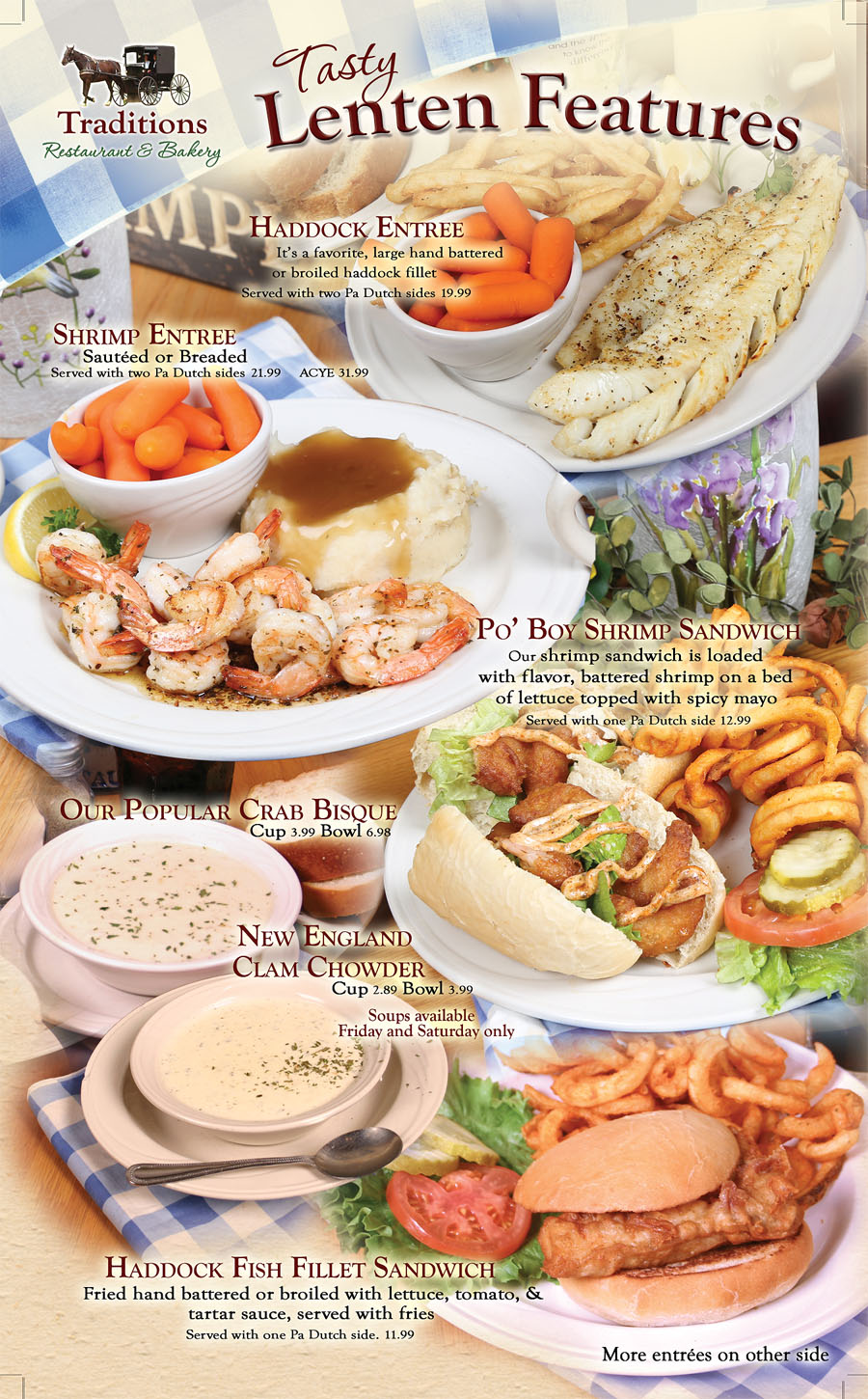 Lenten Specials at Traditions Restaurant page 2